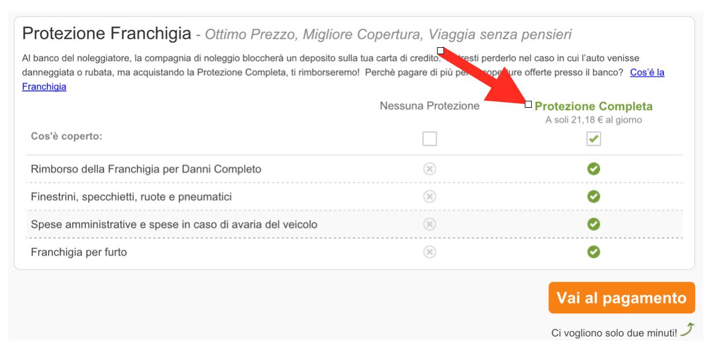 Franchigia zero rentacars.com