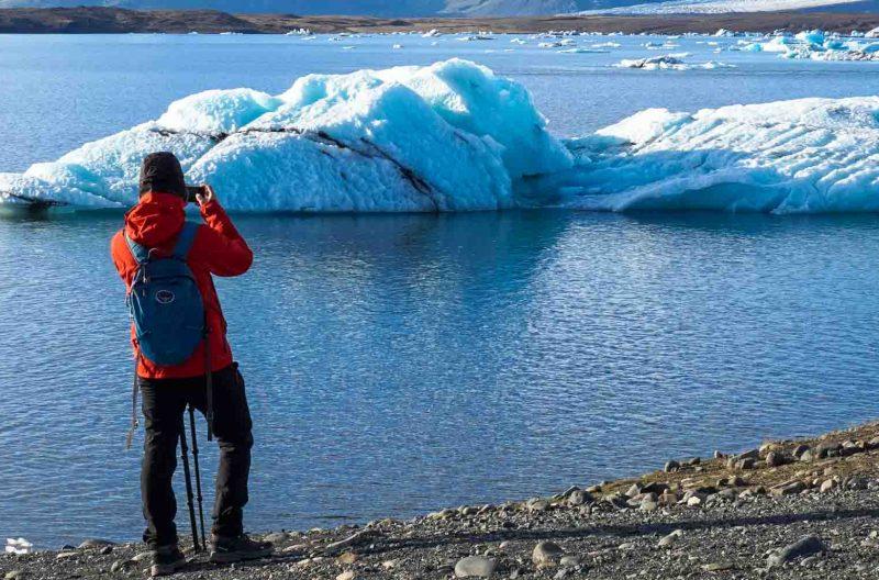 Pietro fotografa jokulsarlon islanda