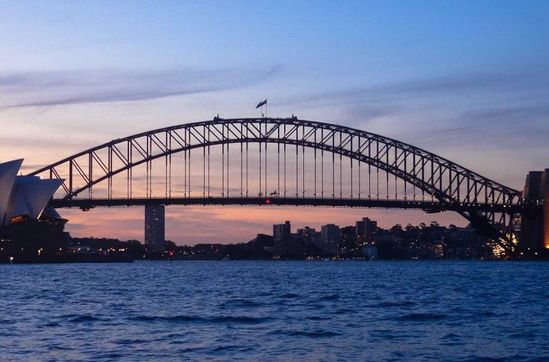 Il tramonto sull'Harbour Bridge