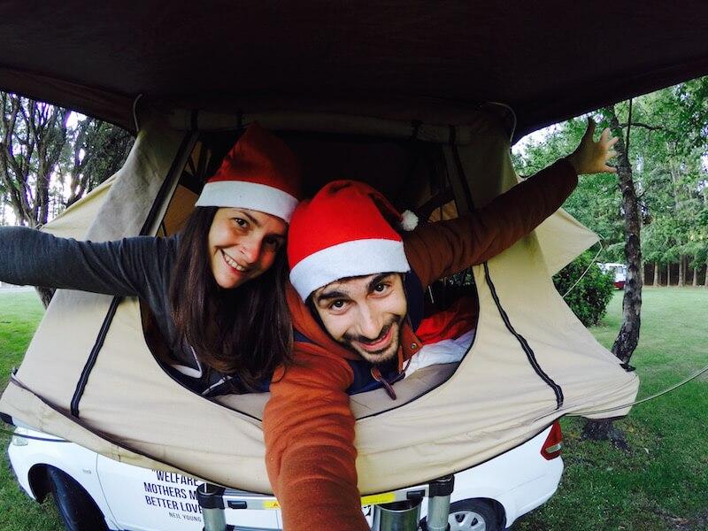 La tenda sulla macchina