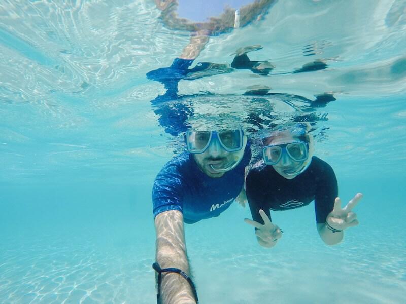 snorkelling a Green Island