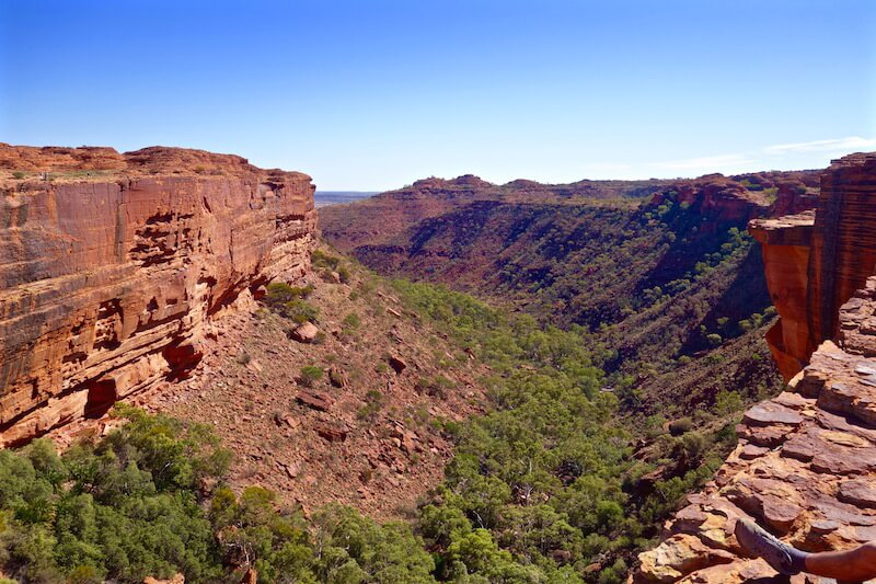 Kings canyon in centro australia