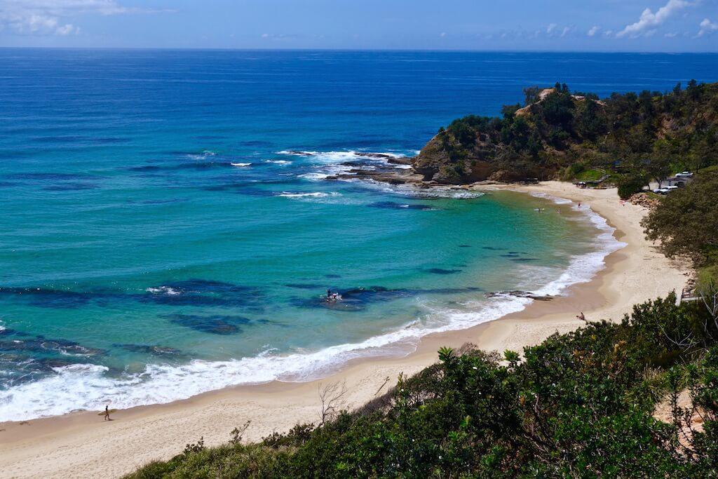 Vista sulla spiaggia di Nambucca Head