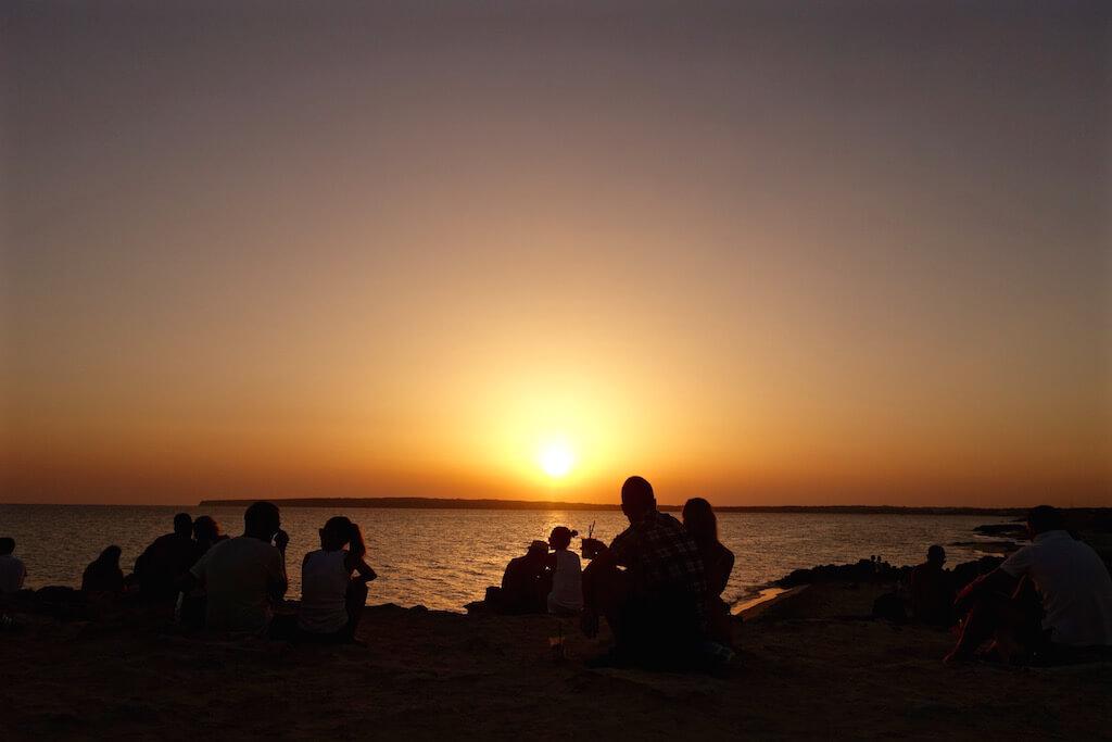 Il tramonto al Piratabus Formentera