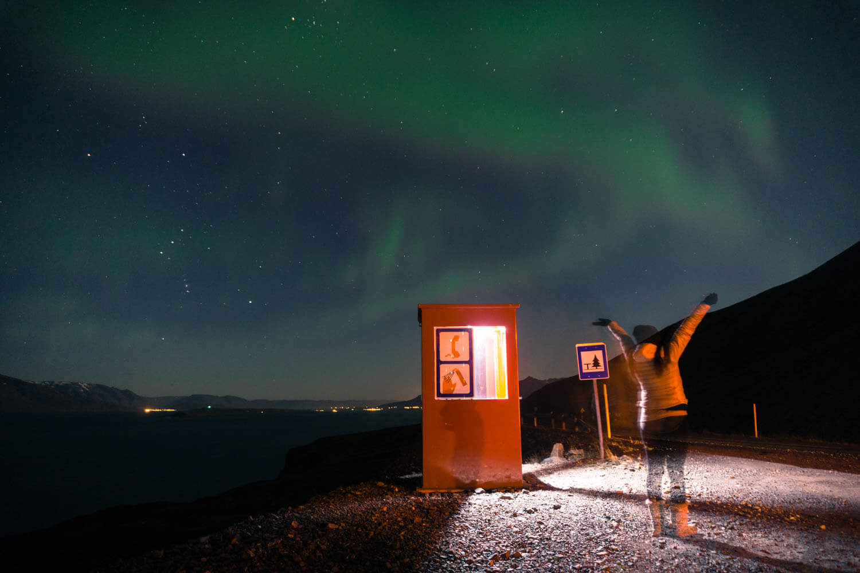 aurora boreale dalvik Islanda