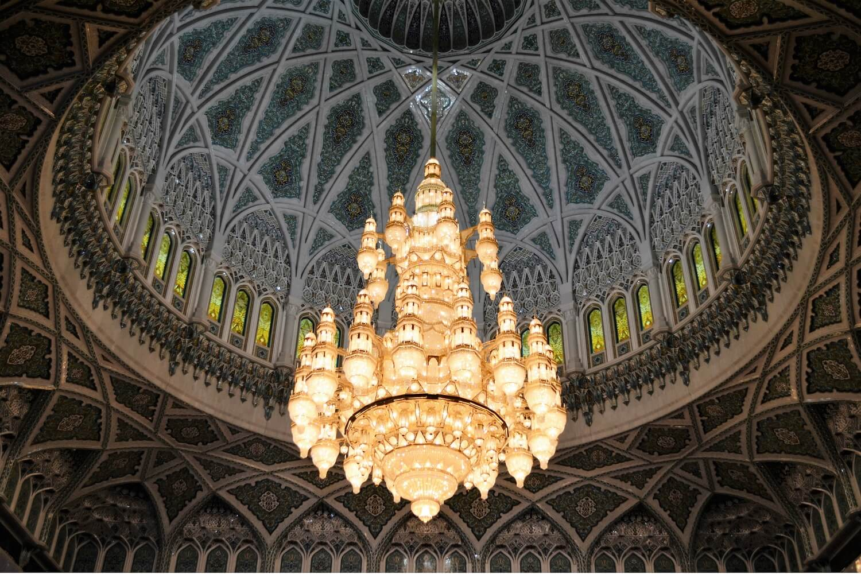 Lampadario di cristallo, Grande Moschea, Mascate, Oman