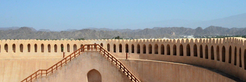 Interno del forte di Nizwa, Oman
