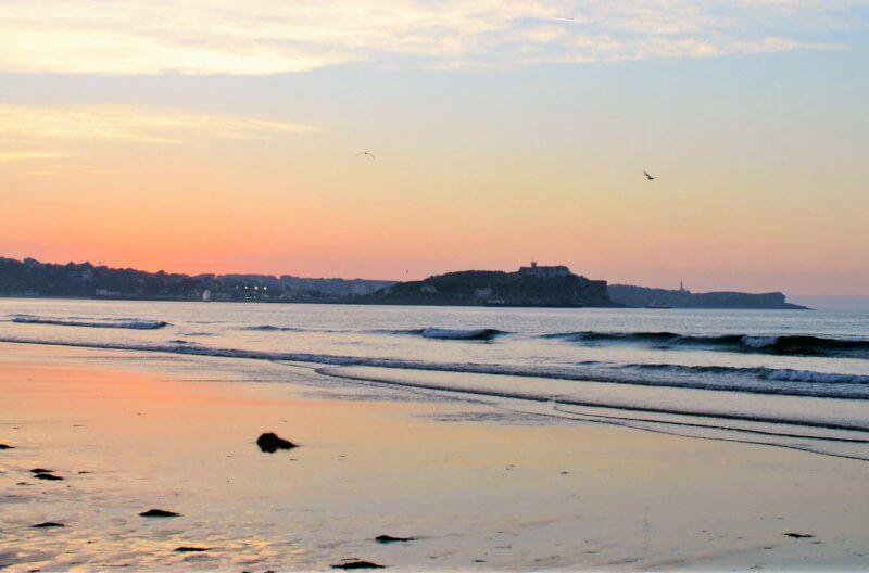 Spiaggia di Somo al tramonto
