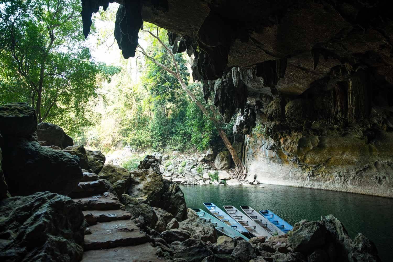 Entrata grotte Konglor