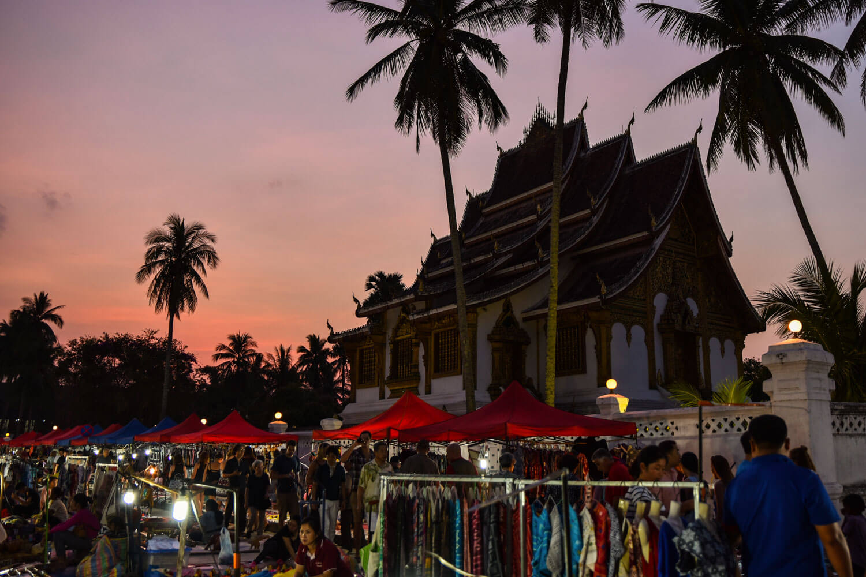Mercato notturno di Luang Prabang