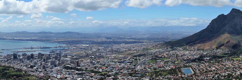 Vista di Città del Capo dal Lion's Head