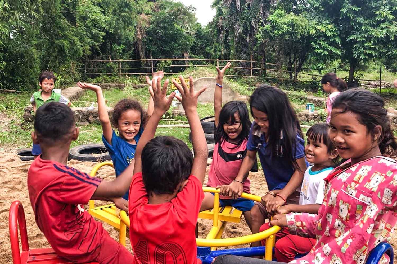 Bambini che giuocano al Viva la Vida Cultural Center